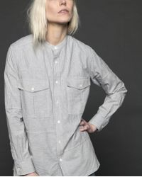 Billy Reid - Panelled Azur Shirt - Lyst