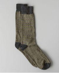 Billy Reid - Heirloom Stripe Dress Sock - Lyst