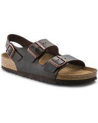 Birkenstock Milano Real Leather Soft footbed Amalfi Testa Di Moro - Multicolore
