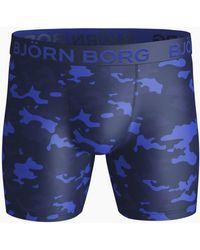 Björn Borg Tonal Camo Performance Shorts - Blauw