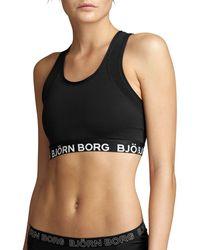Björn Borg Solid Medium Top Black Beauty - Zwart