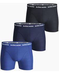 Björn Borg Solid Essential Shorts 3-pack - Meerkleurig