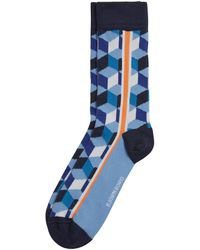 Björn Borg Cube Line Sock Placid Blue - Blauw