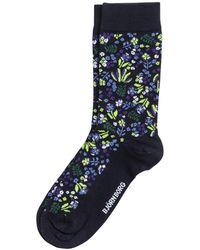 Björn Borg Tiny Flower Sock Peacoat - Blauw