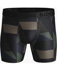 Björn Borg Textured Block Per Performance Shorts Duck Green - Groen