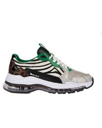 Björn Borg Sneaker X500 Zebra Wht-grn - Groen
