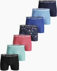 Björn Borg Vår Essential Shorts 7-pack Peacoat - Blauw