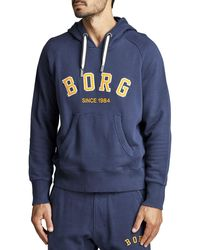 Björn Borg Borg Sport Hood Peacoat - Blauw
