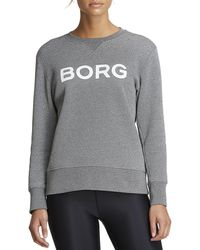 Björn Borg B Sport Crew Light Grey Melange Glitter - Grijs