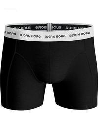 Björn Borg Fourflower Essential Shorts 3-pack Oil Green - Groen