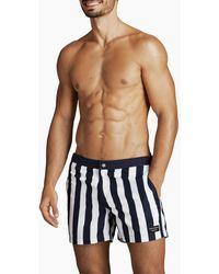 Björn Borg Saint Swim Shorts Bb Bold Stripe Peacoat - Blauw