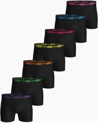 Björn Borg Seasonal Neon Essential Shorts 7-pack Black Beauty - Zwart