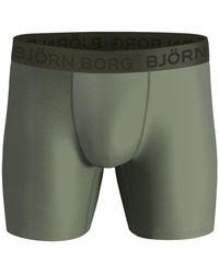 Björn Borg Solid Performance Shorts Oil Green - Groen