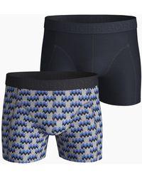Björn Borg 2waywave Cotton Stretch Shorts 2-pack H108by Light Grey Melange - Grijs