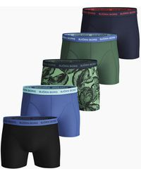 Björn Borg Leafy Essential Shorts 5-pack Lichen - Meerkleurig