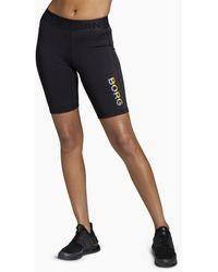 Björn Borg Carly Bike Shorts Black Multi - Zwart