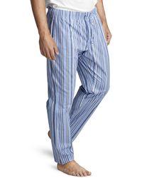 Björn Borg Striped Pyjama Pant Blue Yonder - Blauw