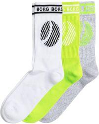 Björn Borg Borg Sport Sock 3-pack Brilliant White - Meerkleurig