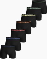 Björn Borg Solid Essential Shorts 7-pack Black Beauty - Zwart