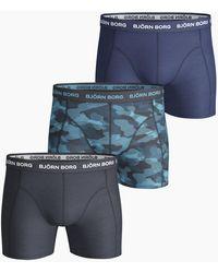 Björn Borg Shadeline Essential Shorts 3-pack - Blauw
