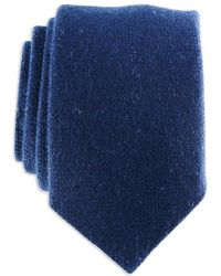 Black.co.uk - Navy Blue Knitted Cashmere Tie - Lyst