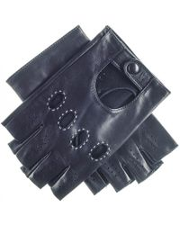 Black.co.uk Men's Black Leather Fingerless Driving Gloves