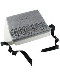 Black.co.uk - Corporate Branded Grey Cashmere Scarf - Lyst