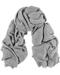 Black.co.uk - Oversized Grey Cashmere Knit Scarf - Lyst