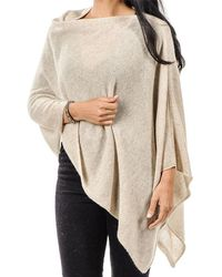 Black.co.uk - Beige Classic Cashmere Poncho - Lyst