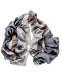 Black.co.uk Kensington Merino Wool And Silk Scarf - Multicolour