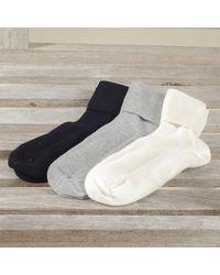 Black Women's Cashmere Socks Set - Multicolour