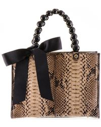 Black.co.uk - Coffee And Latte Python Shoulder Bag - Lyst