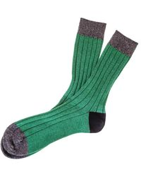Black Emerald Charcoal And Cashmere Socks - Green