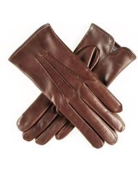 Black.co.uk Classic Brown Cashmere Lined Leather Gloves