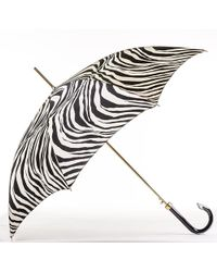 Black.co.uk - Zebra Print Italian Luxury Umbrella - Lyst
