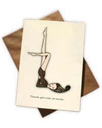 Black.co.uk - Leotard Lady Thank You Cards - Pack Of 8 - Lyst