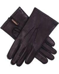 Black.co.uk Men's Black Cashmere Lined Leather Gloves