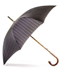 Black.co.uk Black And White Pin Stripe Luxury Umbrella