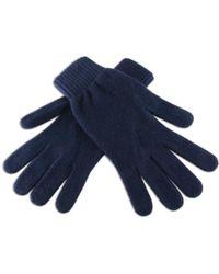 Black.co.uk - Men's Navy Cashmere Gloves - Lyst