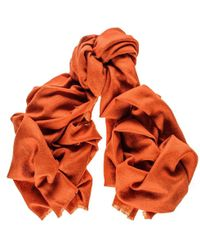 Black.co.uk - Copper Brown Cashmere Ring Shawl - Lyst