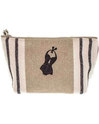 Black.co.uk Deauville Medium Linen Make Up Bag - Multicolour