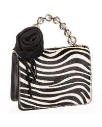 Black.co.uk Zebra Print Calf Hair And Black Leather Mini Bag