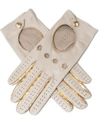 Black.co.uk Supersoft Cream And Gold Nappa Leather Driving Gloves - Natural
