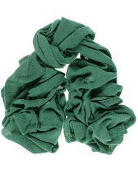 Black.co.uk - Oversized Bottle Green Knitted Cashmere Scarf - Lyst