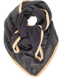 Black.co.uk - Black And Camel Triangle Cashmere Neck Tie - Lyst