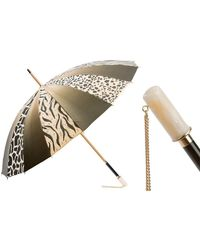Black.co.uk Animal Print Italian Luxury Double Canopy Umbrella - Multicolour