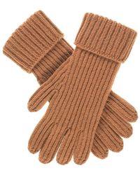 Black.co.uk Men's Camel Rib Knit Cashmere Gloves - Natural