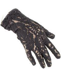 Black.co.uk Short Black Fine Lace Gloves
