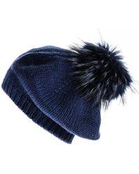 f7cc3f85e80 Black.co.uk Taupe Rabbit Fur Bobble Hat Description Delivery ...