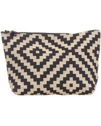 Black.co.uk Black And Beige Cotton Make Up Bag